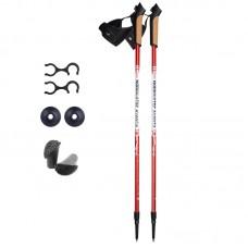 Палки для скандинавской ходьбы NordicStep Avanta c Antishok (красные)