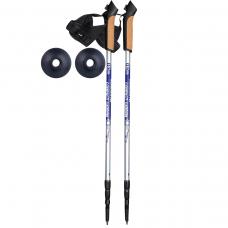 Палки для скандинавской ходьбы NordicStep Compact Carbon 3-х секционные