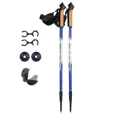 Палки для скандинавской ходьбы NordicStep Avanta c Antishok (синие)