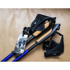 Палки для скандинавской ходьбы NordicStep PRO фиксированные 100% Carbon