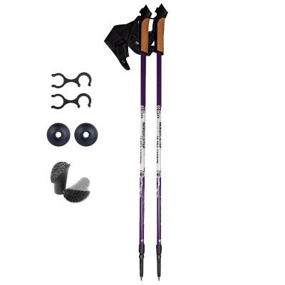 Палки для скандинавской ходьбы NordicStep Ultra 50% Carbon (Фиолетовые)